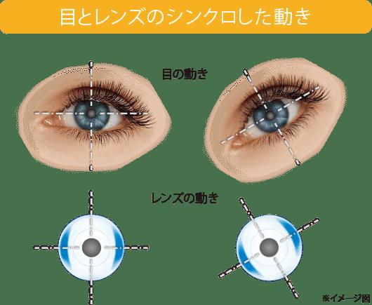 目とレンズのシンクロした動き(イメージ図)