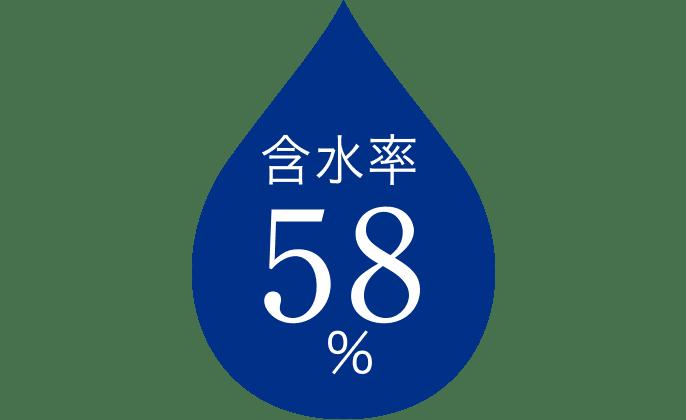 含水率58%