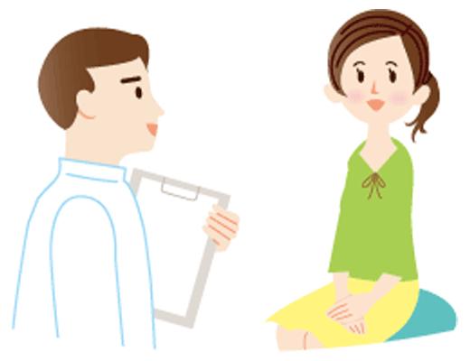画像:眼科医の診察