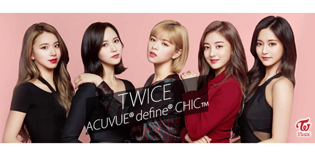 TWICE × ACUVUE® define® CHIC™